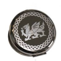 Personalised Welsh Dragon Compact Mirror
